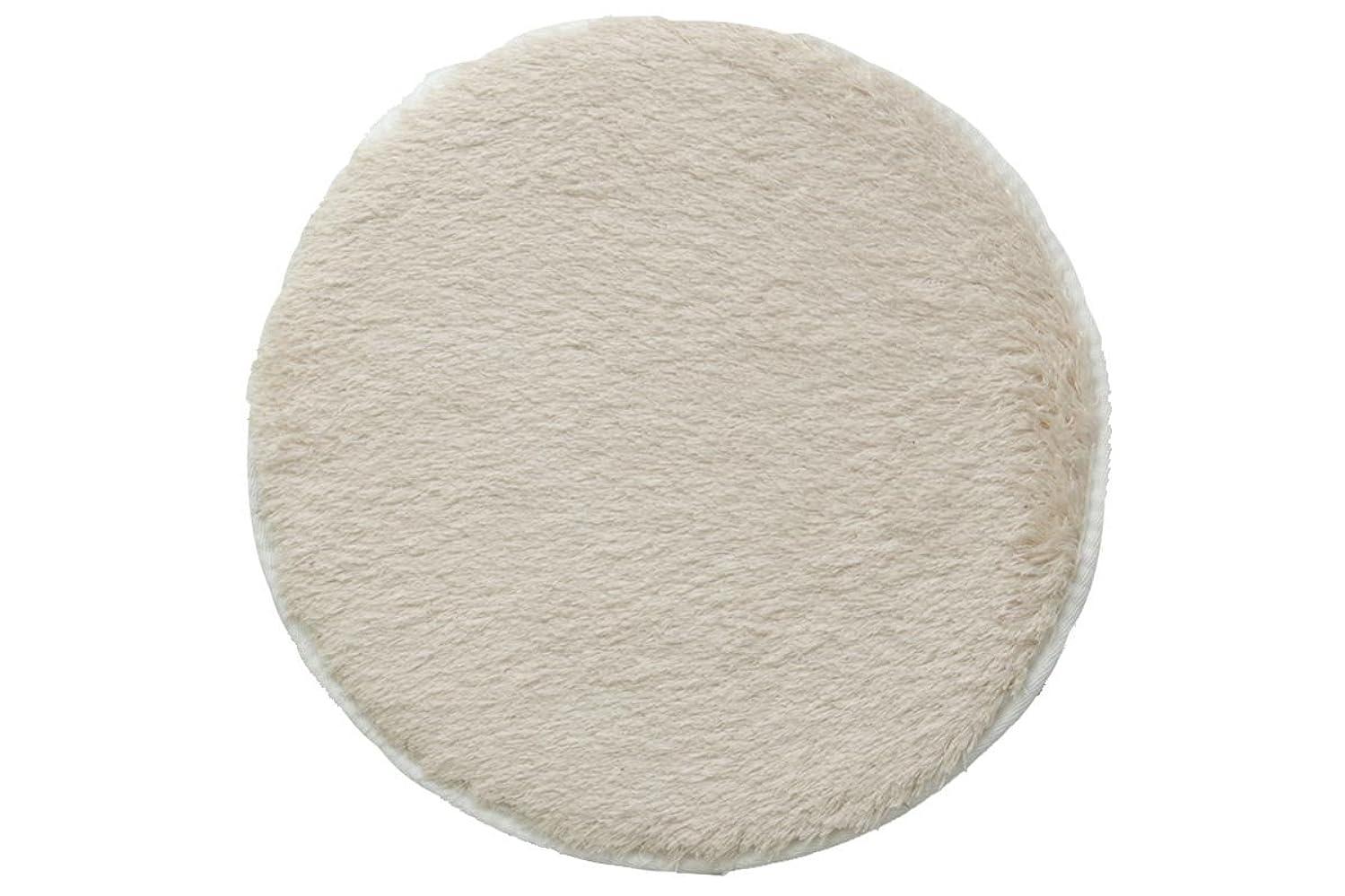 寄稿者まつげ見物人円形 洗える チェアパッド 『 レスト 』【IB】 直径35cm アイボリー(#3437309) 選べる6色展開