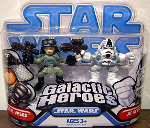 Star Wars 2009 Galactic Heroes 2-Pack AT-AT Driver and General Veers