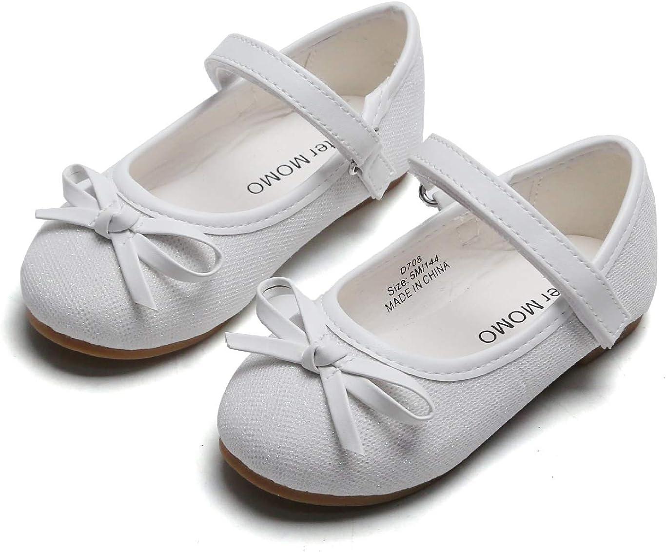 ESTINE Mary Jane Flats for Little Kids Toddler Baby Girls Glittery Dress Princess Ballet Shoes