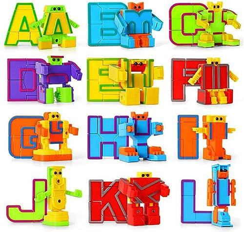 grandes ofertas FFENGG Alfabeto de Juguete de Aprendizaje Educativo Robot Figura Figura Figura Regalo para los Niños preescolares 26 Piezas  marcas en línea venta barata