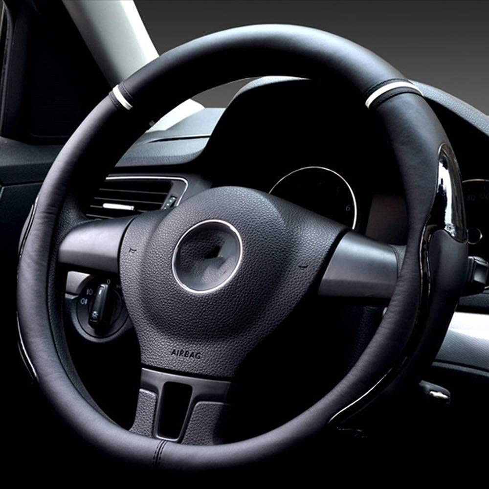 Quality inspection Steering Max 70% OFF wheel cover microfiber wea leather