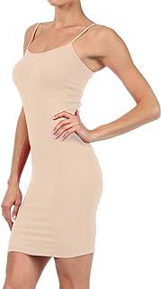 aa0257e2d ICONOFLASH Women s Nylon Seamless Long Cami Slip Dress