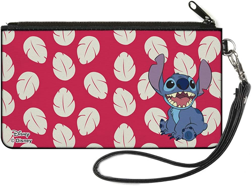 """Buckle-Down Women's Standard Zip Wallet Lilo & Stitch Small, 6.5"""" x 3.5"""" : Clothing, Shoes & Jewelry"""