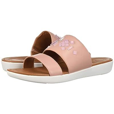 FitFlop Delta Leather Slide Sandals Crystal (Dusky Pink) Women