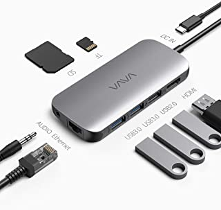 Hub USB C VAVA Adattatore USB C 9 in1 per MacBook Pro/Air con USB-C 4K HDMI 3.5mm Audio1Gbps Ethernet RJ45 USB 3.0 Lettore...