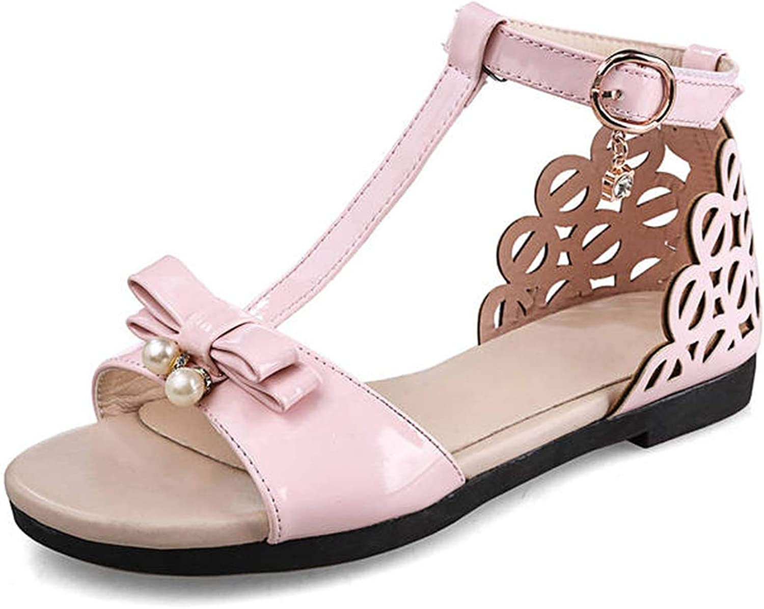 Lonely Store 2019 Women Sandals Bowknot Sweet Casual Ladies Buckle Hollow Out Summer Comfortable Flat shoes