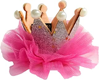 Askana Girls Glitter Crown Hair Clip Pink