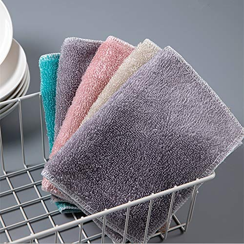 Kitchen Anti-Grease Wiping Rag Super Absorbent Superfine Bamboo Fiber Cleaning Cloth Home Washing Dish Kitchen Cleaning Towel