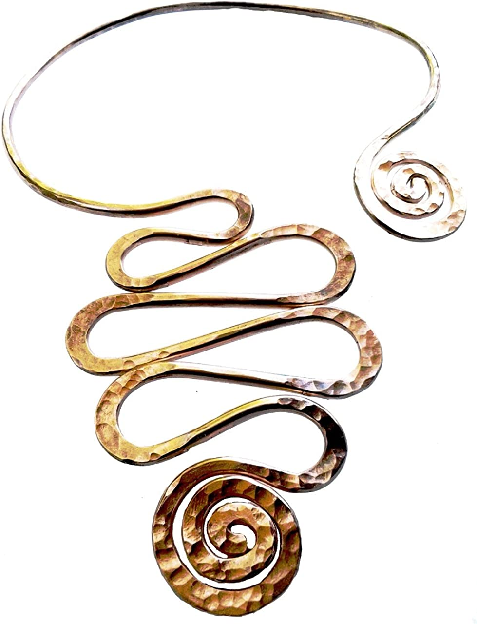 Elaments Design Solid Copper Chakra NEW before selling ☆ Sprial Long Collar Goddess 35% OFF D