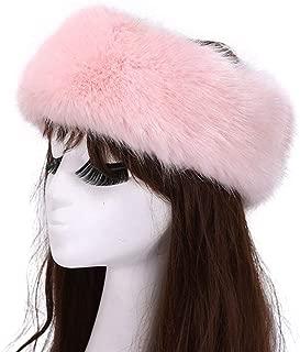 SUNFURA Women's Faux Fur Headband Winter Earwarmer Earmuff with Stretch