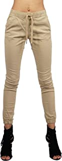 Southpole Women's Jogger Pants in Solid and Camo Colors Stretch Twill Fabric