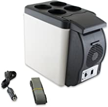 Enshey 12V Car Mini Fridge 12V Electric Cooler and Warmer Electric Car Refrigerator Cooler and Food Warmer Portable Thermoelectric System -6L Capacity for Home, Office, Truck Camping, Car or Boat