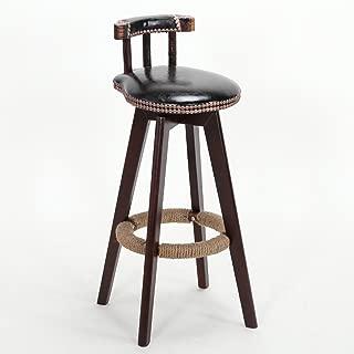 NMDB Tabouret Bar Chaise comptoir Petit dejeuner  Chaise Bar Bois Marron  Couleur