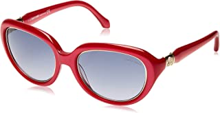 Roberto Cavalli Women's RC781S Oval Sunglasses Red 56 mm