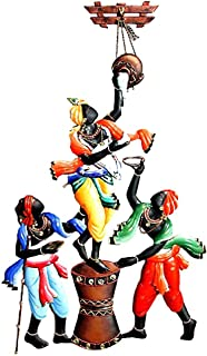 CINAGRO® - Wrought Iron Wall Decor Hanging Lord Krishna Makhanchor Home Décor
