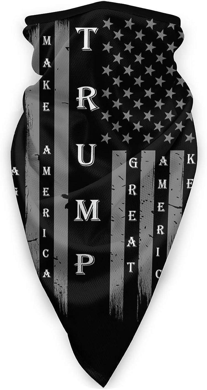 Vintage Trump 2024 USA Flag Denver Mall Cover Scarf Be super welcome Bal Neck Gaiters Bandana