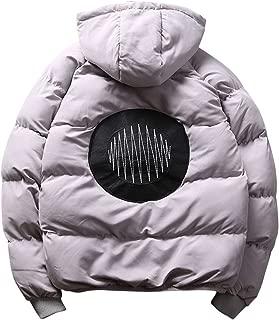Bigbarry Mens Fleece Thicken Winter Lapel Quilted Parka Coat Jacket Outwear