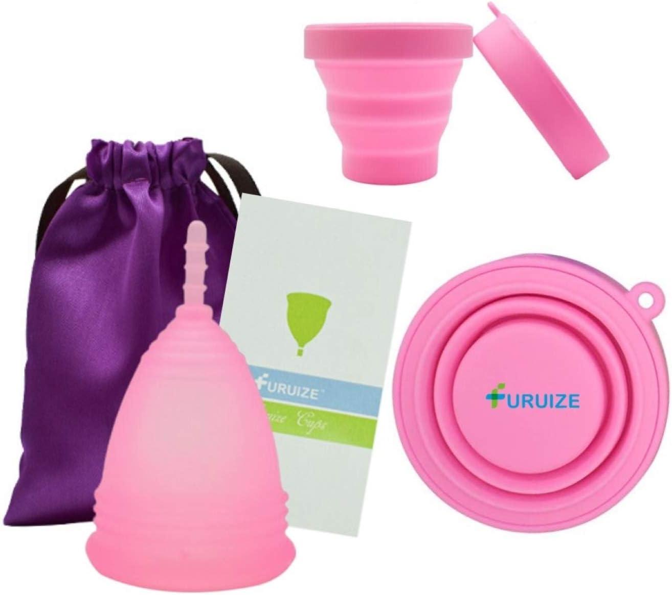 Copa Menstrual Furuize Confort con Taza de Esterilización. Silicona suave de grado médico 100%. Previene infecciones y fortalece el suelo pélvico. ...