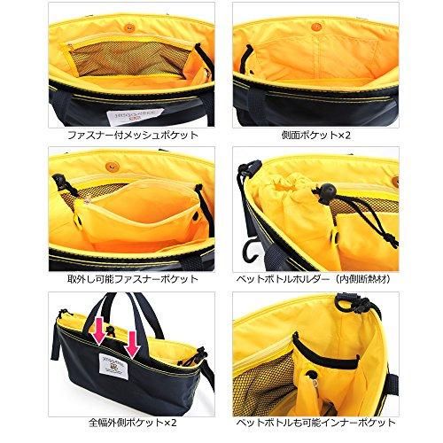 『オーガナイザー 4wayバッグ ベビーカー バギー用 自動車シート背面 ペットお散歩 ネイビー×レッド』の6枚目の画像