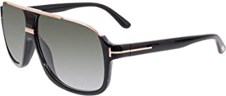 35da5c13aa Tom Ford Elliot Sunglasses in Shiny Black Gradient Green FT0335S 01P 60