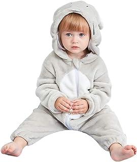 1342055609526 GWELL Animal Pyjama Bébé Fille Garçons Combinaison Enfant Hiver Chaud  Déguisements Noël Halloween Fêtê