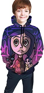 Coralines Secreta Hoodies Sweater Shirt Unisex Hooded Pullover Girls Cozy Lovely Costume Tops Black