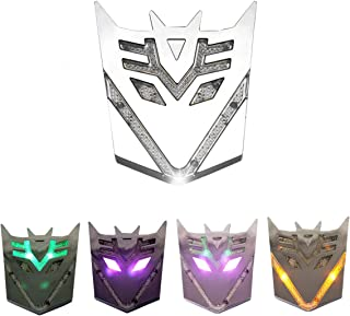 HengJia Auto Parts Car Solar energy LED Transformers Metal 3D Emblem, led Styling Warning Lamp-Decepticons