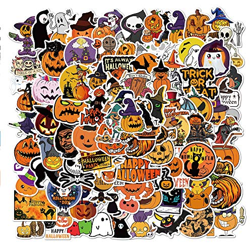 Halloween Stickers 100 Pack Pumpkin Stickers Decals Funny Party Stickers