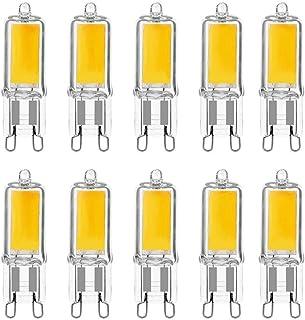 LAKES Bombillas LED G9 3W, igual a 40W halógena, 3000K blanco cálido, Bombilla LED 320LM, no regulable, paquete de 10