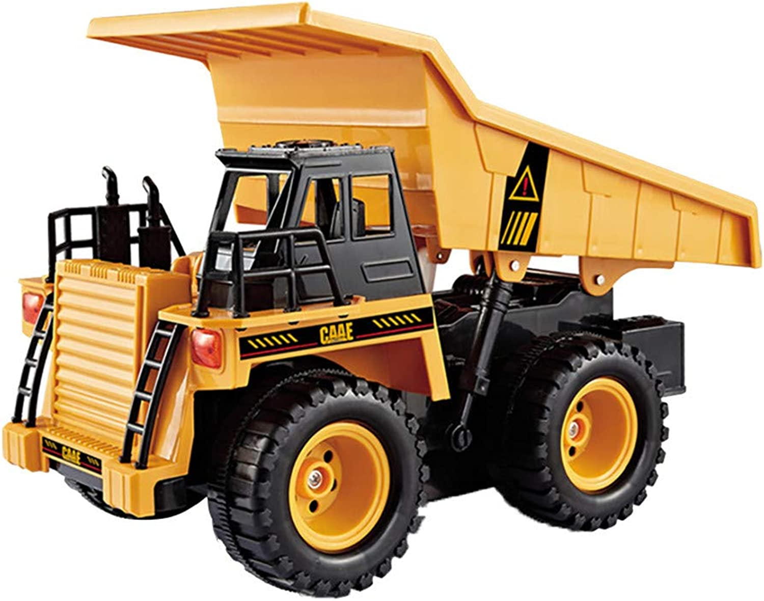 JXQN RC Toy 6CH Remote Control Big Dump Truck Loaded Sand Vehicle Toys 1 18 Scale Full Functional Battery Powered Construction Toy (A)