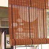 Persiana de bambú 85cm / 105cm / 125cm / 145cm Ancho Persianas Enrollables para Exteriores Cortinas, Persianas Enrollables De Bambú De Estilo Japonés con Ajuste (Size : 105×220cm)