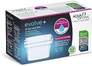 Aqua Optima EPS311 Evolve+ Cartouche de Filtre à Eau 30 Jours, Blanc, 3 Pack (up to 3 Months Supply), Plastic