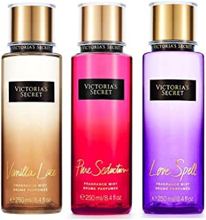 Victoria's Secret Pure Seduction Vanilla Lace and Love Spell Fragrance Mists trio pack