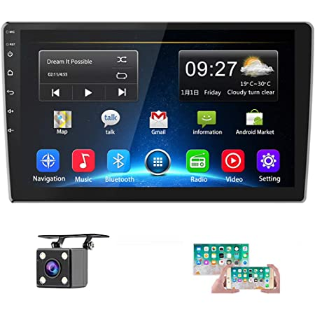 Android Radio de Coche GPS 2 DIN 9,7 Pulgadas Pantalla T/áctil Vertical Bluetooth WiFi USB Radio FM Reproductor de Coche Est/éreo Enlace Espejo C/ámara de Respaldo