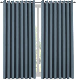 Blackout Vertical Blinds for Patio Door, Sliding Door Thermal Insulated Curtain, Gromment Top Room Divider Curtain for Bedroom 84 Inches Long, 8.5ft Wide x 7ft Long, Stone Blue, One Panel