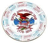 200th Anniversary Year 1776-1976 Calendar Plate
