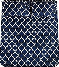 Utopia Bedding - Juego Sábanas de Cama Estampadas - Microfibra Cepillada - Sábanas y 2 Fundas de Almohada - (Cama 135, Azul Marino)