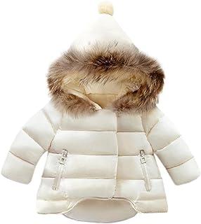 cd0ed9dfe7aa5 Amazon.fr   Blanc - Manteaux et blousons   Bébé fille 0-24m   Vêtements