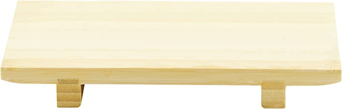Helen's Asian Kitchen Sushi Serving Tray, 9.5-Inches x 6-Inches, Natural Bamboo