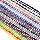 Hübsches, dekoratives 6mm Wellenband auf 1,8 oder 13,7-Meter-Rolle, 28 Farben zur Auswahl, Lt Cappuccino, 2 Yards
