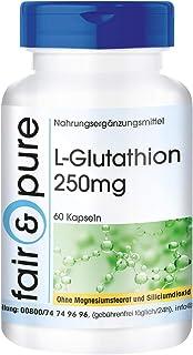 L-Glutatión 250 mg - Reducido - Biodisponible - Vegano - Alta pureza - 60 Cápsulas