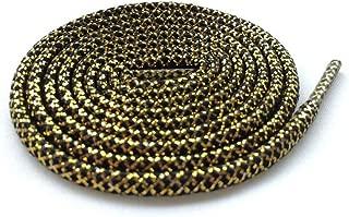Black/Gold Rope Laces Sports Shoelaces