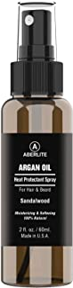 Aberlite Hair & Beard Heat Shield Protectant Spray - Argan Oil Thermal Protector Protect up to 450º F (Sandalwood Scent) - 2oz