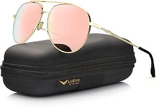 Aviator Sunglasses for Women Polarized Mirror with Case -...