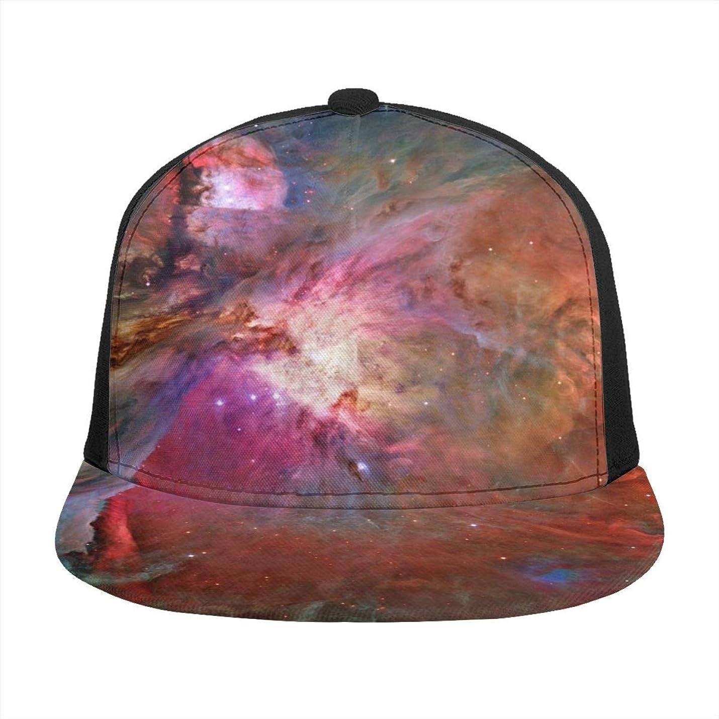 レッスンアパートパッケージオリオン星雲,orion Nebula フラットつばキャップ野球キャップサンシェードUV保護ゴルフテニス屋外釣りハイキング登山旅行調節可能なユニセックス