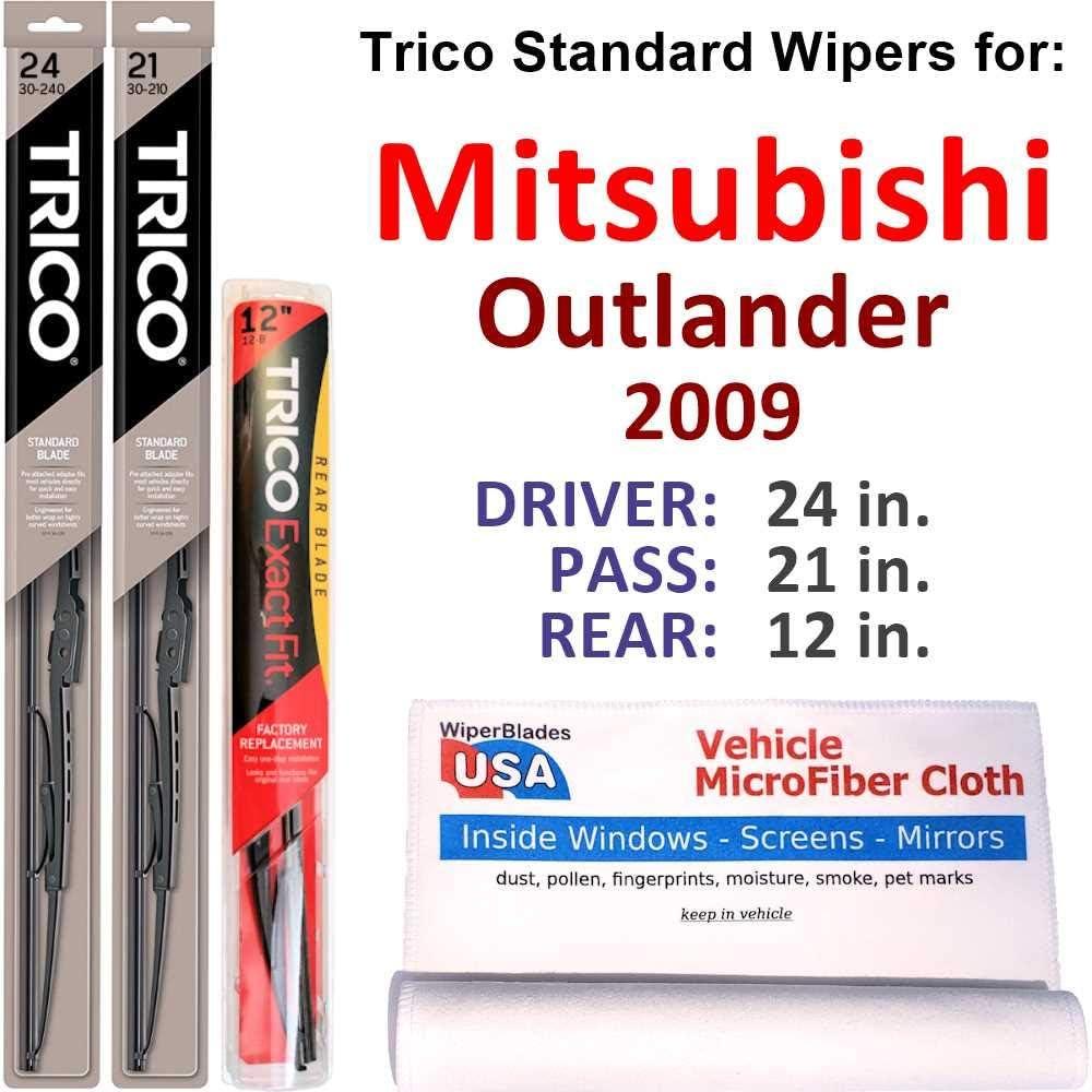Wipers for 2009 Mitsubishi Elegant Ranking TOP15 Outlander Set Rear Wipe w Trico Steel