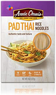 Annie Chun's Rice Noodles, Pad Thai | Vegan, 8-oz (Pack of 6) | Gluten-Free Alternative to Linguine Pasta