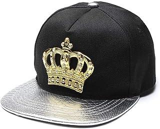 Snapback Hat King Crown Baseball Cap Adjustable Hip Hop Dad Hats Peaked Rhinestone Crystal Sun Cap