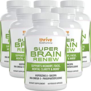 Thrive Naturals Super Brain Renew - Memory Supplement - Brain Food Made from Phosphatidylserine & Bacopa Extract - Best Vi...