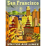 Bumblebeaver TRAVEL SAN Francisco California United Airline